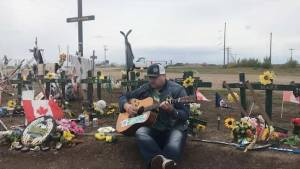 Kingston musician returns from Humboldt after helping pay tribute to the Broncos' at their season opener