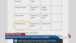 Patrick Brown reenters Ontario PC leadership race amid sexual misconduct allegations