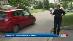 Toronto man takes on speeders by stepping into traffic