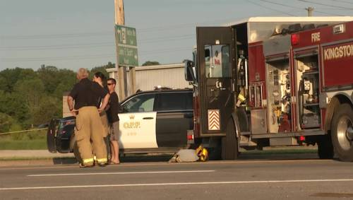 Fatal accident involving a motorcycle and passenger car on Hwy  15