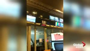 Earthquake shakes TV's in California newsroom
