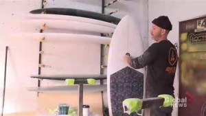 Montrealer shapes surfboards with love
