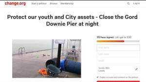 Kingston residents petitioning to close the Gordon Edgar Downie pier at night