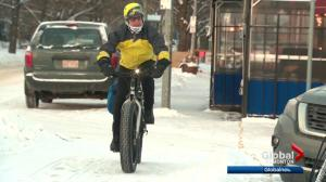 Edmontonians celebrate International Winter Bike to Work Day