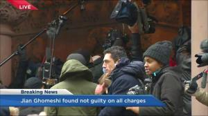 'We Believe the Survivors!': Protesters chant outside Ghomeshi courthouse after verdict