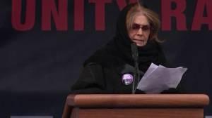 Gloria Steinem speaks at 2019 Women's March in New York City
