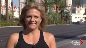 Las Vegas woman recalls saving shooting victim one year later