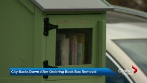 City of Toronto issued ticket to man for setting up free library box on his property