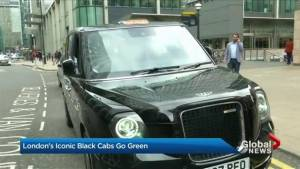 London's black cabs going green (02:02)