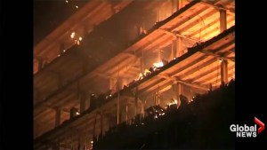 Massive fire consumes Cameroon's National Assembly