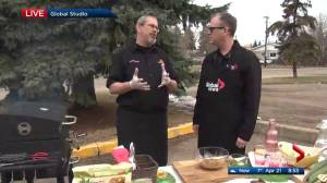 Cooking meat with BBQ champion