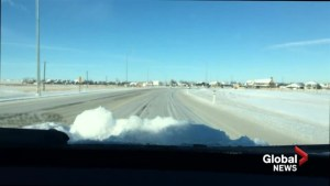 Poor road conditions in southern Alberta