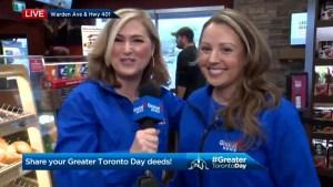 Jennifer Valentyne kicks off Greater Toronto Day at Scarborough Tim Hortons
