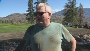 Army of volunteers clean up Oliver golf course after mudslide