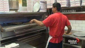 Surviving a heatwave next to a pizza oven: 'It gets really hot in here!'