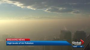 Why is Calgary's air so polluted?