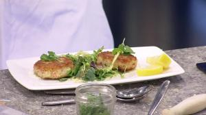 Dungeness crab cakes from Coal Harbour's Lift Bar, Gill & View