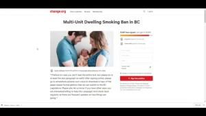 B.C. woman takes smoking ban push to legislature