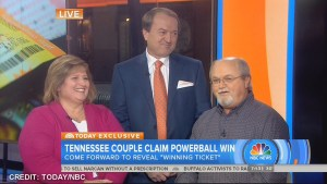 Tennessee couple claims Powerball win on Today show