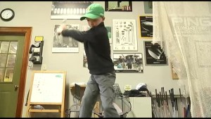9 year old golfer tees off at The Masters