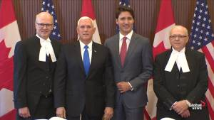 U.S. VP Pence arrives in Ottawa for trade talk with Trudeau
