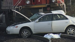 Elderly couple killed after train hits car in Langley