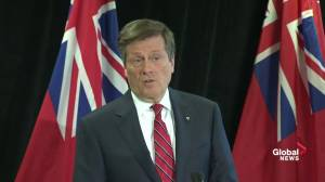 Mayor Tory views private sector as key tool in reaching affordable housing goals (00:43)