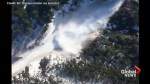 Explosive detonation triggers controlled avalanche in British Columbia