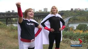 Our YEG At Night: Superheroes get ready for annual AIDS Walk