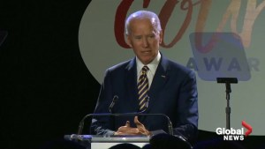 Former U.S. Vice President Joe Biden says he 'regrets' the treatment of Anita Hill