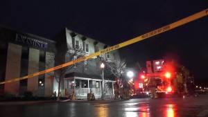 Fire closes Hunter Street Tuesday morning