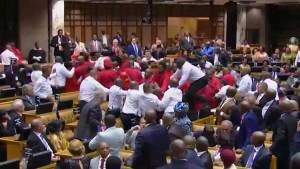 Brawl breaks out in South Africa's parliament