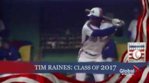 Montreal Expos' Tim Raines elected into Baseball Hall of Fame