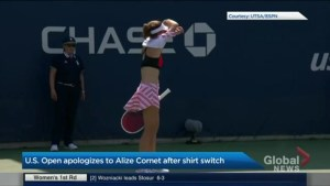 U.S. Open apologizes to tennis player who fixed her shirt