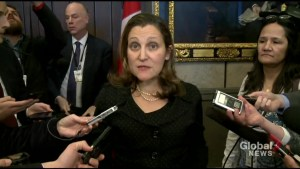 Chrystia Freeland calls on Maduro to 'cede power'