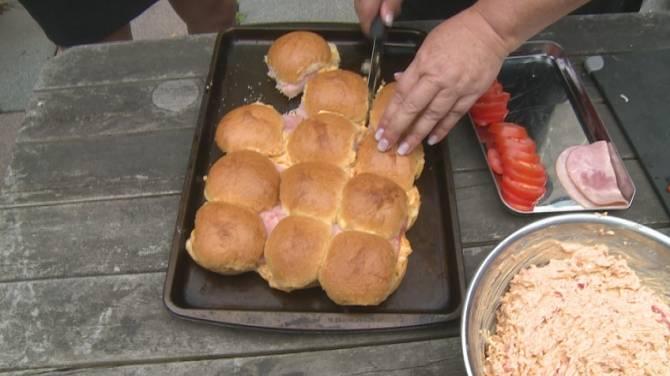Recipes: BBQ Sheet Pan Ham & Pimento Cheese Sandwiches