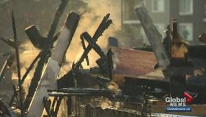 Fire destroys 2 show homes in northeast Edmonton's McConachie area