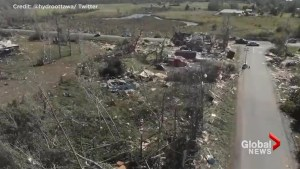 Drone surveys damage from tornado that touched down in Dunrobin