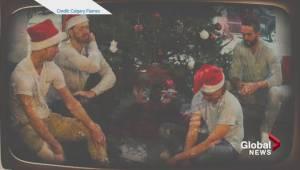 Calgary Flames Christmas sweater video