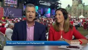 Wet weather doesn't damper massive Canada Day celebrations on Parliament Hill (01:47)