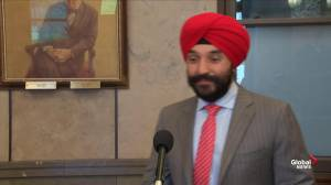 Bains says GM announcement 'encouraging news'