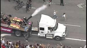 Tens of thousands turn out for Cleveland Cavaliers championship victory parade