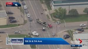 Police investigate serious crash in northwest Edmonton