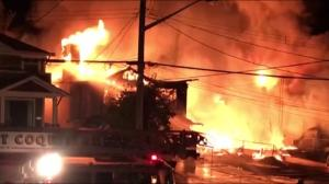 Huge fire in Port Coquitlam