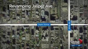 Pedestrian-friendly transformation being tested along Jasper Ave
