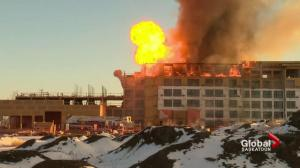 Major structure fire at Saskatoon hotel construction site