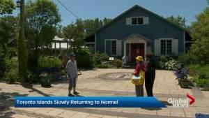 Toronto Islands slowly returning to normal