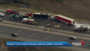 Another fatal collision involving a tractor trailer