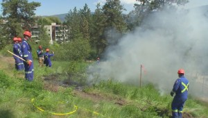 Vernon firefighters light controlled burns in city park