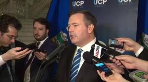 Alberta UCP Leader Jason Kenney reacts to 2018 budget